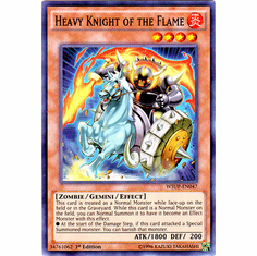 Heavy Knight of the Flame WSUP-EN047 Super Rare Card