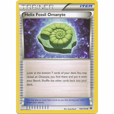 Helix Fossil Omanyte 102/124 Uncommon - Pokemon XY Fates Collide Card