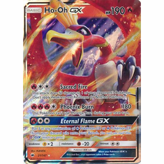 Ho-Oh GX 21/147 Ultra Rare - Pokemon Sun & Moon Burning Shadows Card