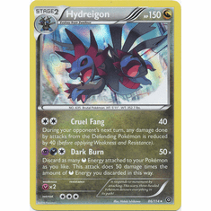 Hydreigon 86/114 Rare Holo - Pokemon XY Steam Siege Card
