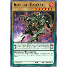 Igknight Gallant CORE-EN031 Common - YuGiOh Clash of Rebellions Card