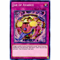 Jar of Avarice CROS-EN074 Secret Rare - YuGiOh Crossed Souls Card