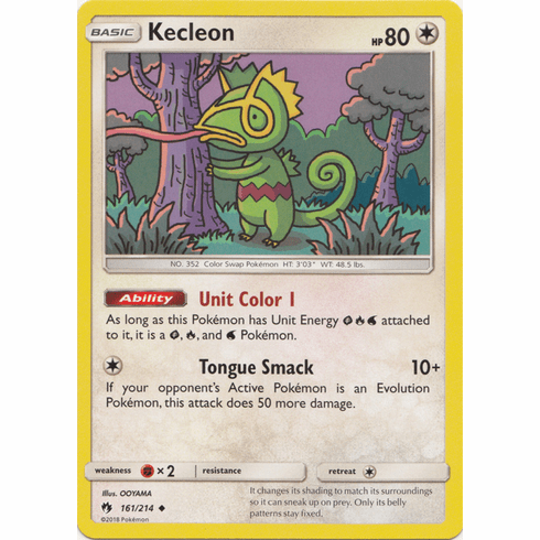Kecleon - 161/214 Pokemon » SM Lost Thunder Uncommon