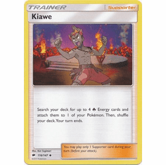 Kiawe 116/147 Uncommon - Pokemon Sun & Moon Burning Shadows Card
