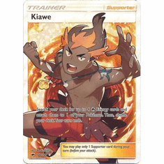 Kiawe 144/147 Full Art - Pokemon Sun & Moon Burning Shadows Card