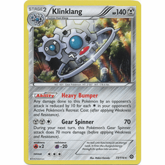 Klinklang 73/114 Rare Holo - Pokemon XY Steam Siege Card