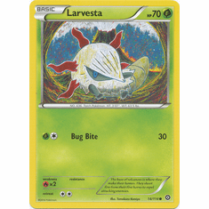 Larvesta 14/114 Common - Pokemon XY Steam Siege Card