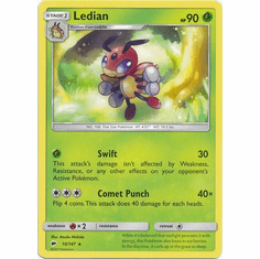 Ledian 10/147 Rare - Pokemon Sun & Moon Burning Shadows Card