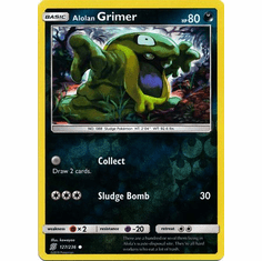 lolan Grimer - 127/236 - Common Reverse Holo Sun & Moon: Unified Minds Reverse Hol