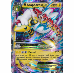 M Ampharos EX 28/98 ULTRA RARE - Pokemon XY Ancient Origins Card