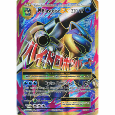M Blastoise EX 102/108 Full Art - Pokemon XY Evolutions Single Card