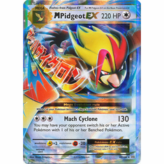 M Pidgeot EX 65/108 Ultra Rare - Pokemon XY Evolutions Single Card