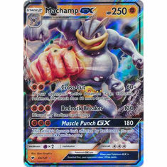 Machamp GX 64/147 Ultra Rare - Pokemon Sun & Moon Burning Shadows Card