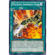 Machina Armored Unit SDCR-EN028 - YuGiOh Cyber Dragon Revolution Common