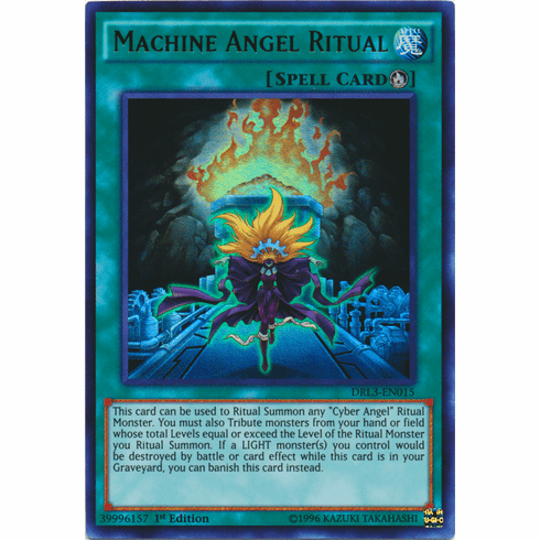 Machine Angel Ritual DRL3-EN015 Ultra Rare - YuGiOh Dragons of Legend Unleashed Card