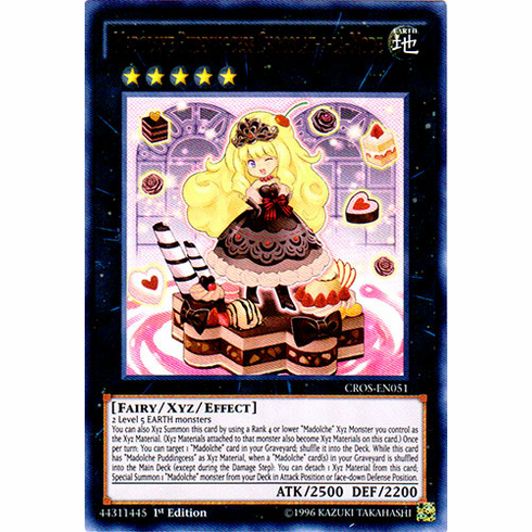 Madolche Puddingcess Chocolat-a-la-Mode CROS-EN051 Ultra Rare - YuGiOh Crossed Souls Card