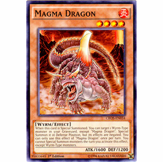 Magma Dragon CROS-EN034 Common - YuGiOh Crossed Souls Card