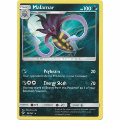 Malamar 90/147 Rare - Pokemon Sun & Moon Burning Shadows Card