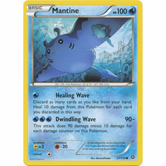 Mantine 27/114 Common - Pokemon XY Steam Siege Card