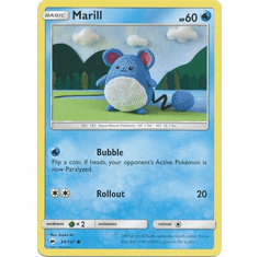 Marill 34/147 Common - Pokemon Sun & Moon Burning Shadows Card