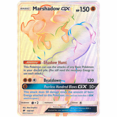 Marshadow GX 156/147 Hyper Rare - Pokemon Sun & Moon Burning Shadows Card