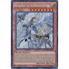 Master Peace, the True Dracoslaying King MACR-EN024 Secret Rare - YuGiOh Maximum Crisis Card