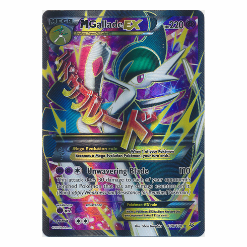 Mega Gallade EX 100/108 Full Art - Pokemon XY Roaring Skies Card