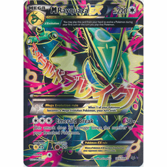 Mega Rayquaza EX 105/108 Full Art - Pokemon XY Roaring Skies Card