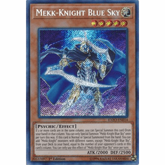 Mekk-Knight Blue Sky EXFO-EN014 Secret Rare - YuGiOh Extreme Force