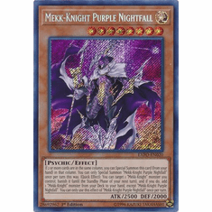 Mekk-Knight Purple Nightfall EXFO-EN020 Secret Rare - YuGiOh Extreme Force