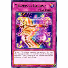 Melodious Illusion CROS-EN067 Rare - YuGiOh Crossed Souls Card