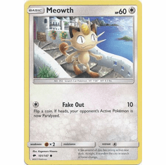 Meowth 101/147 Common - Pokemon Sun & Moon Burning Shadows Card
