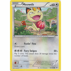 Meowth 67/108 Common - Pokemon XY Roaring Skies Card