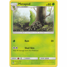 Metapod 2/147 Uncommon - Pokemon Sun & Moon Burning Shadows Card
