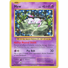 Mew 53/108 Holo Rare - Pokemon XY Evolutions Single Card
