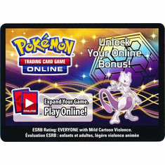 Mewtwo Tin Unused Code Card