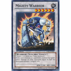 Mighty Warrior LVAL-EN096 - YuGiOh Legacy Of The Valiant Common Card
