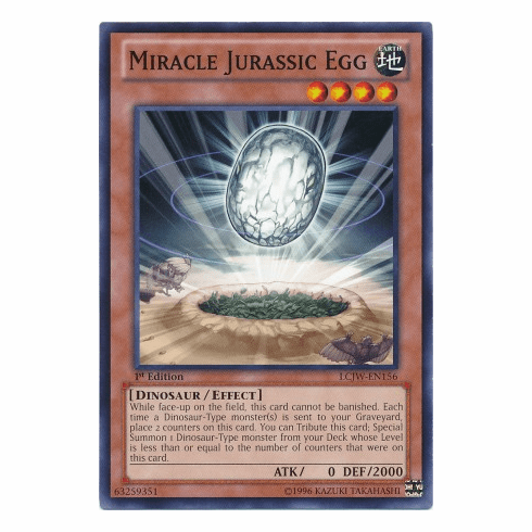 Miracle Jurassic Egg LCJW-EN156 - YuGiOh Joey's World Common Card