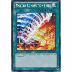 Molten Conduction Field HA07-EN025 - YuGiOh Knight Of Stars Secret Rare Card