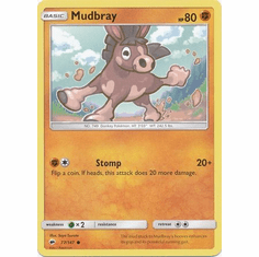 Mudbray 77/147 Common - Pokemon Sun & Moon Burning Shadows Card