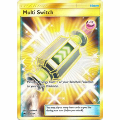 Multi Switch 164/147 Secret Rare - Pokemon Sun & Moon Burning Shadows Card
