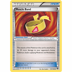 Muscle Band 121/146 - Pokemon XY Uncommon Trainer Card