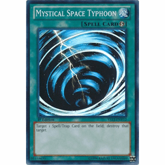 Mystical Space Typhoon YS13-ENV12 - YuGiOh V For Victory Super Rare Card
