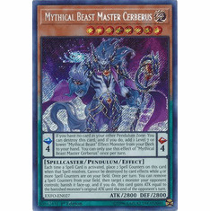 Mythical Beast Master Cerberus EXFO-EN027 Secret Rare - YuGiOh Extreme Force