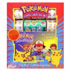 NEW Pokemon Sticker Extravaganza: 190 Stickers & Album
