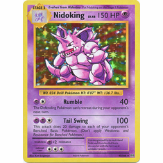 Nidoking 45/108 Holo Rare - Pokemon XY Evolutions Single Card