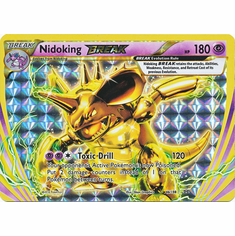 Nidoking 46/108 Break Rare - Pokemon XY Evolutions Single Card
