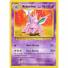 Nidorino 44/108 Uncommon - Pokemon XY Evolutions Single Card