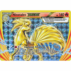 Ninetales 16/108 Break Rare - Pokemon XY Evolutions Single Card
