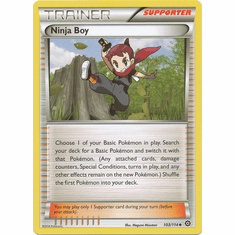 Ninja Boy 103/114 Uncommon - Pokemon XY Steam Siege Card